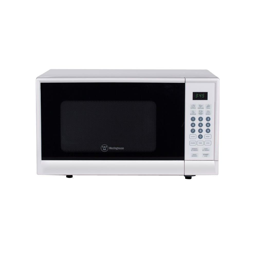 0.9 cu. ft. 900-Watt Countertop Microwave in White
