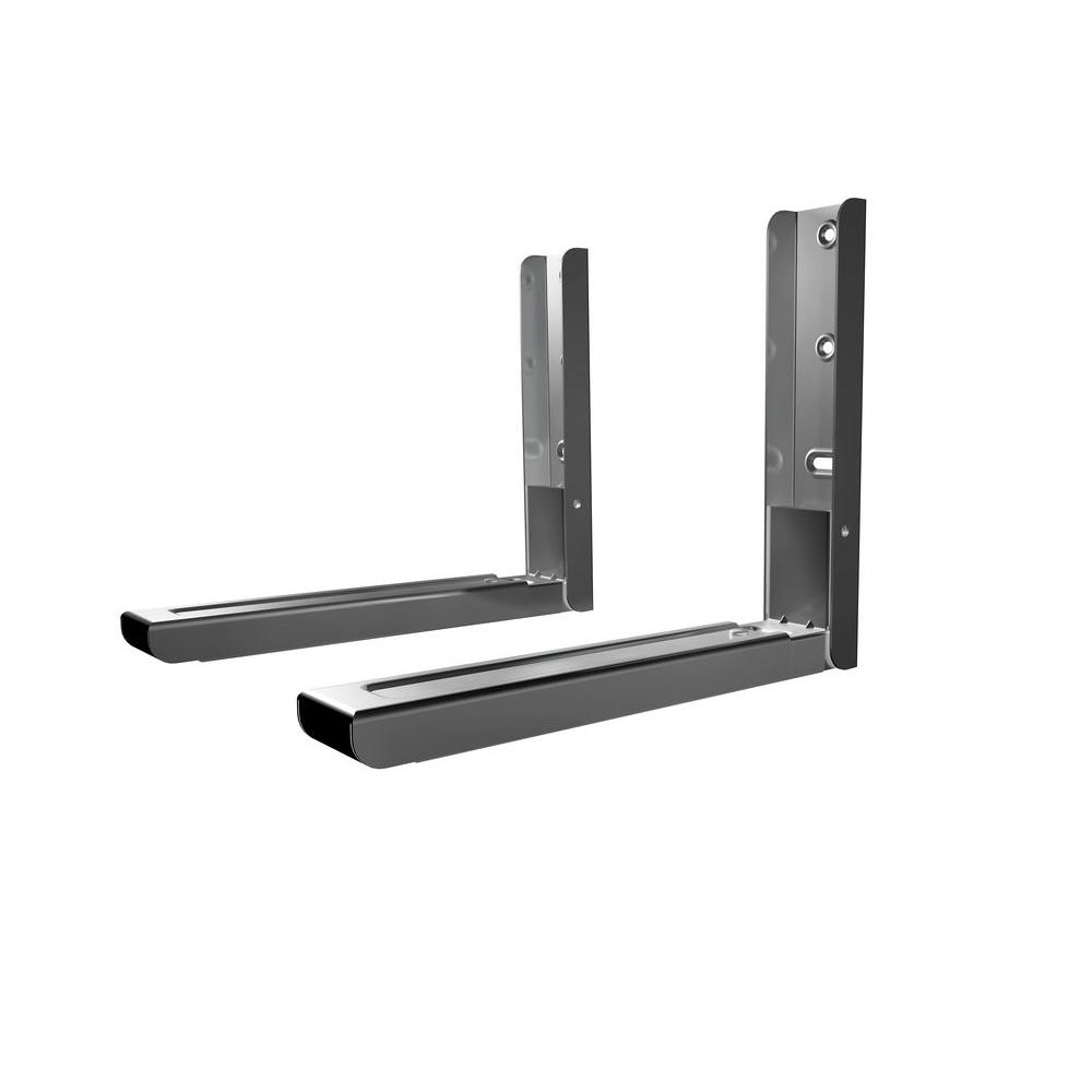AVF Universal Wall-Mounted Microwave Bracket in Silver-EM60S-A ...