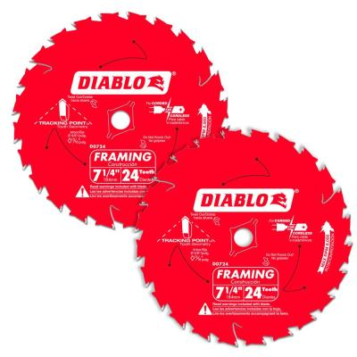 7-1/4 in. 24-Tooth Carbide Framing Circular Saw Blade Value Pack (2-Pack)