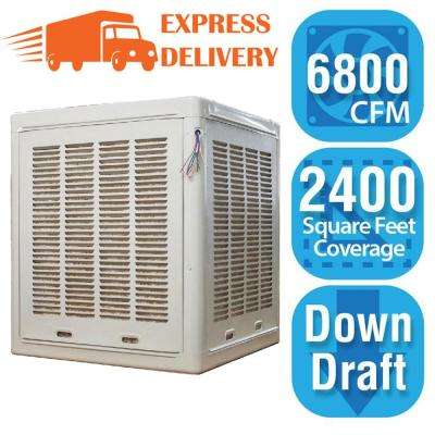 6,800 CFM Down-Draft Aspen Roof/Side Evaporative Cooler for 20 in. Ducts 2,400 sq. ft. (Motor Not Included)