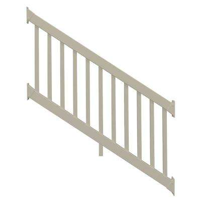 Naples 3 ft. H x 8 ft. W Khaki Vinyl Stair Railing Kit