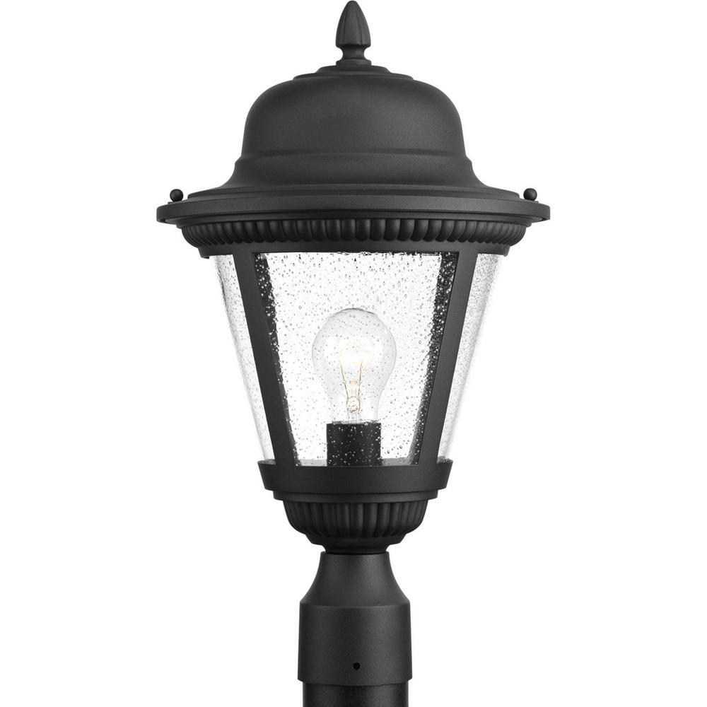 Westport Collection 1-Light Outdoor Black Post Lamp