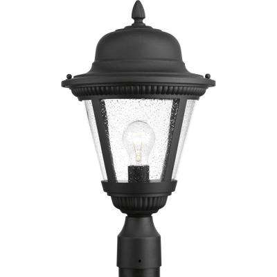 Westport Collection 1-Light Outdoor Black Post Light