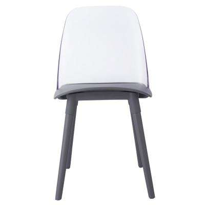 Pasha Grey Acrylic Chair (Set of 2)