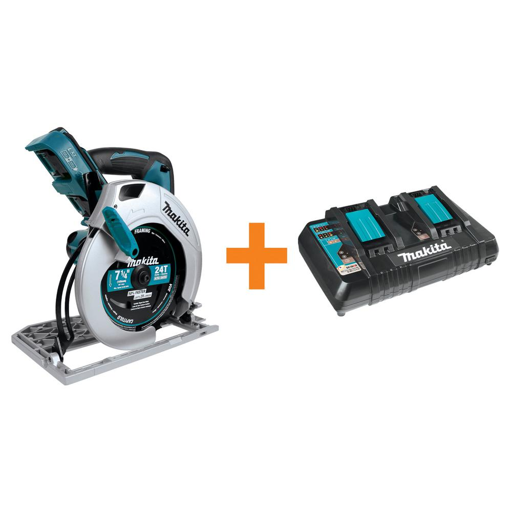 Makita 18 Volt X2 Lxt 7 1 4 Circular Saw Tool Only With