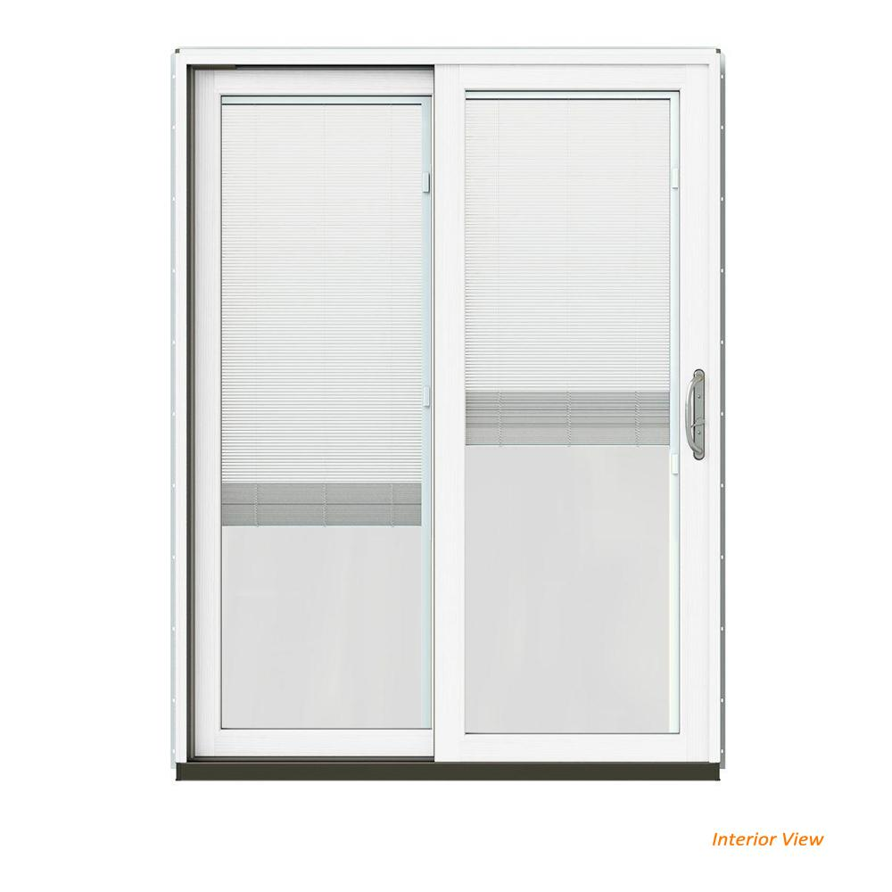 Jeld Wen 60 In X 80 In W 2500 Contemporary Vanilla Clad