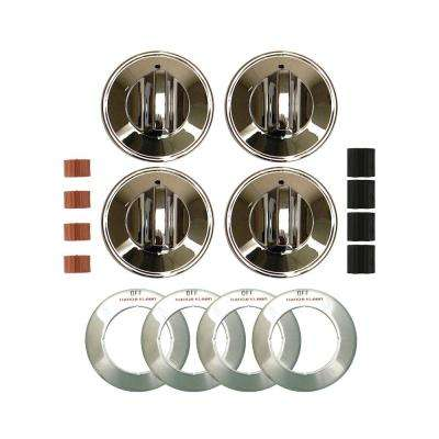 Gas Replacement Knob in Chrome (4-Pack)