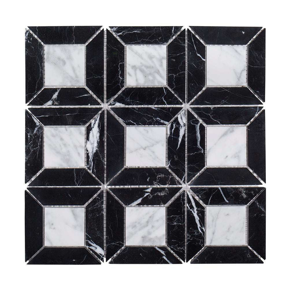 Doheny 12 in. x 12 in. x 8 mm Marble Mosaic