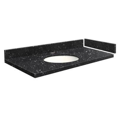 54.5 in. W x 22.25 in. D Quartz Vanity Top in Interlude with Single Hole White Basin