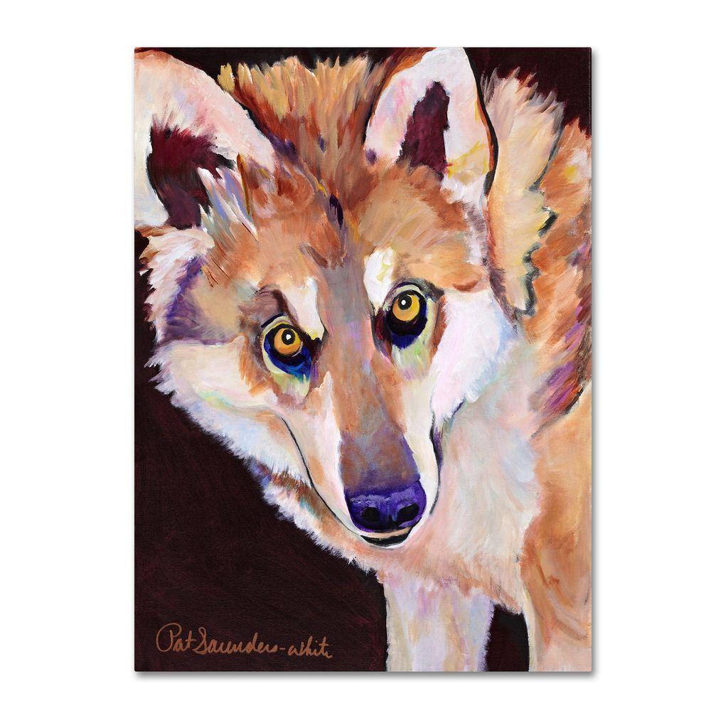 Trademark Fine Art 35 in. x 47 in. Night Eyes Canvas Art