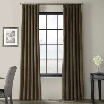 Signature Hunter Green Blackout Velvet Curtain - 50 in. W x 120 in. L