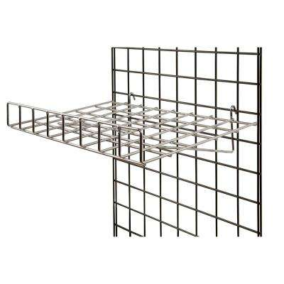 24 in. W x 15 in. D Straight Chrome Wire Shelf with Front Lip