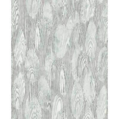 57.8 sq. ft. Monolith Slate Abstract Wood Wallpaper