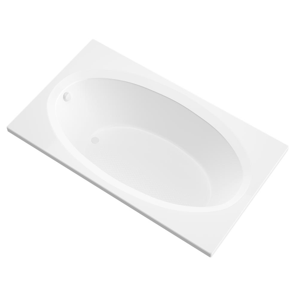 Universal Tubs Imperial 5 ft. Acrylic Center Drain Rectangular Drop-in Non-Whirlpool Bathtub in White