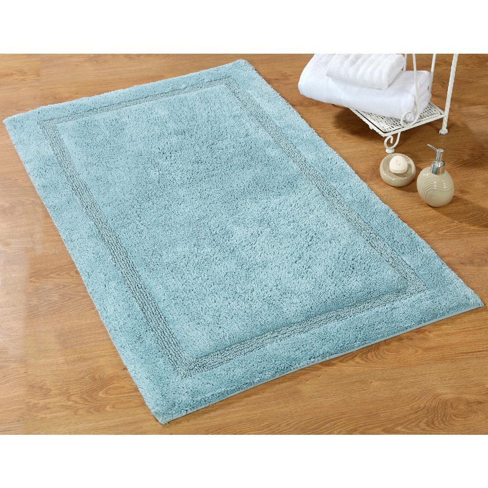 Regency 34 in. x 21 in. and 36 in. x 24 in. 2-Piece Bath Rug Set in Arctic Blue