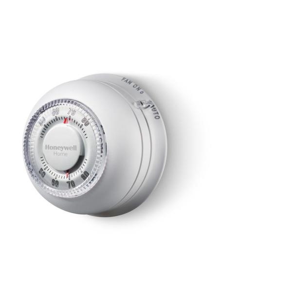 Round Non-Programmable Thermostat with 1H/1C Single Stage Heating and Cooling