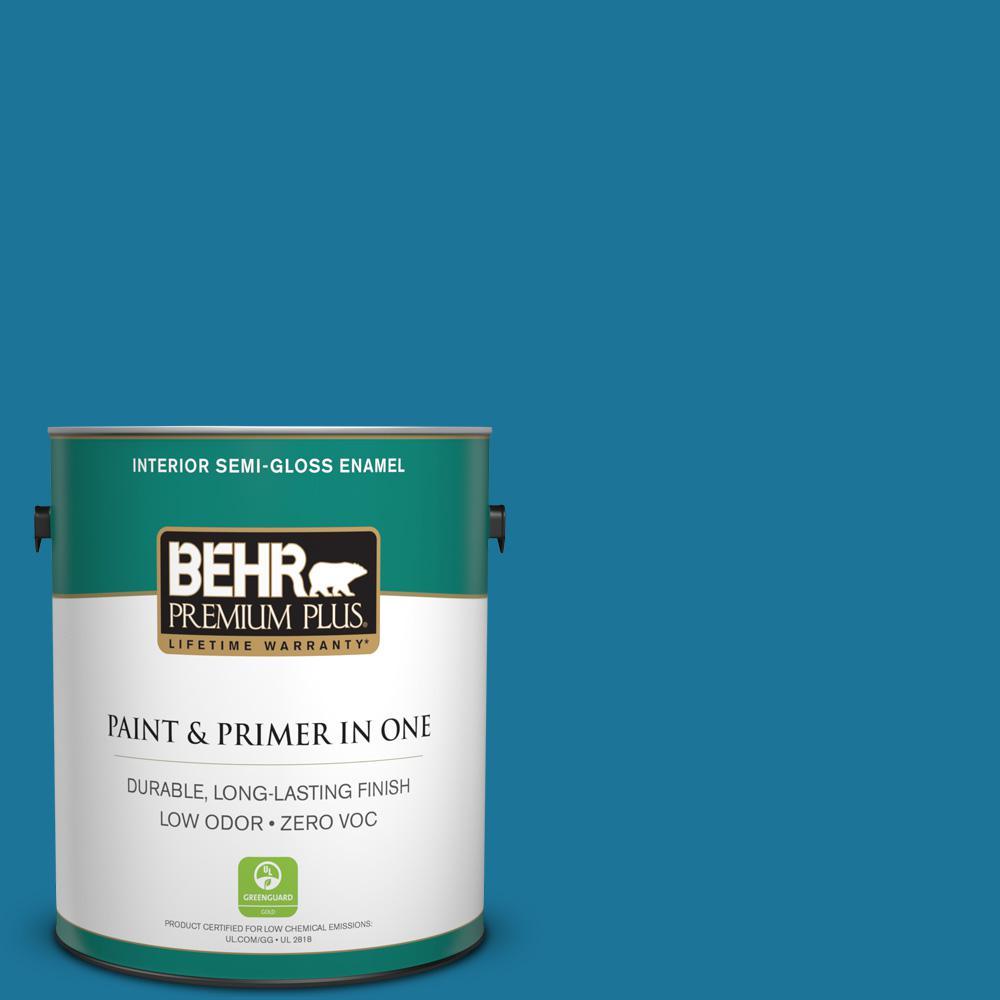 BEHR Premium Plus 1-gal. #P490-7 Mayan Treasure Semi-Gloss Enamel Interior Paint