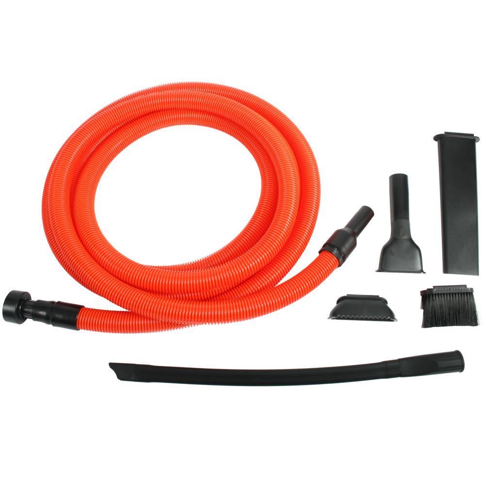 Premium Garage Attachment Kit With 20 Ft Hose For Shop Vacuums