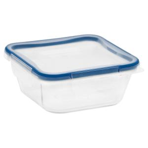 Total Solutions 4-Cup Glass Square Storage Container
