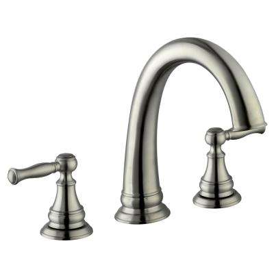 Fairway 2-Handle Deck Mount Roman Tub Faucet in Brushed Nickel