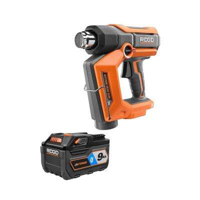 18-Volt Cordless Butane Heat Gun with 18-Volt OCTANE 9.0 Ah Lithium-Ion Battery Pack