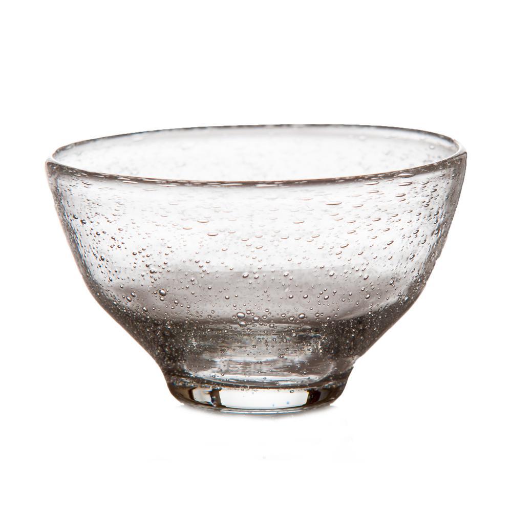 8 oz. 4.5 in. D x 2.75 in. H Tutti Frutti Bubble Glass Bowl (Set of 4)