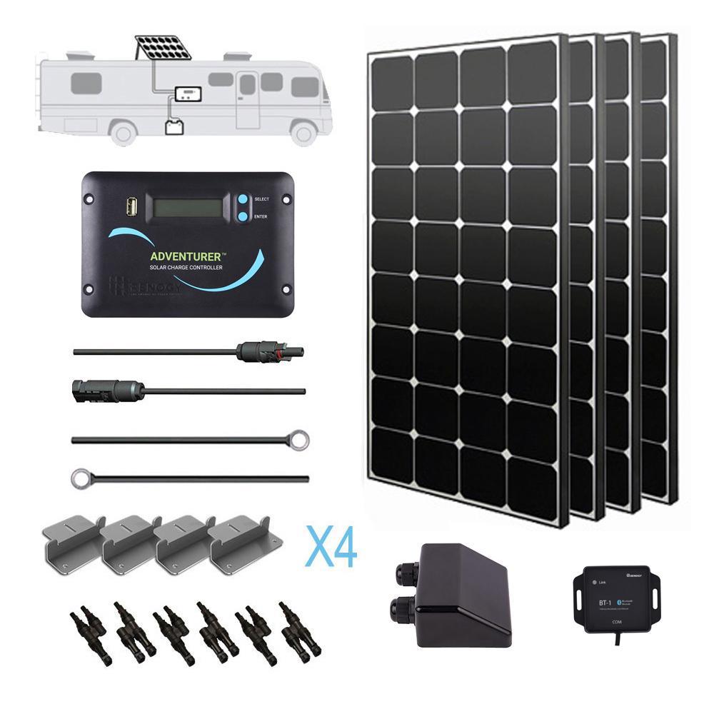400-Watt 12-Volt Monocrystalline Solar RV Kit for Off-Grid Solar System