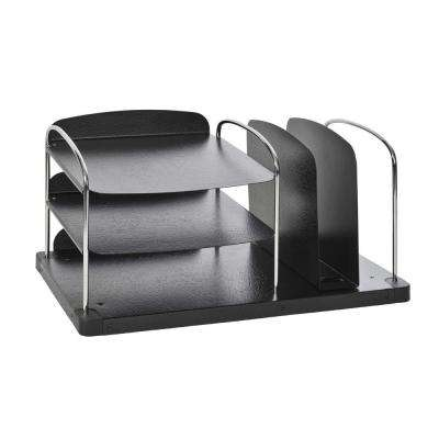 Trio Combination Horizontal and Vertical Desktop Organizer in Charcoal