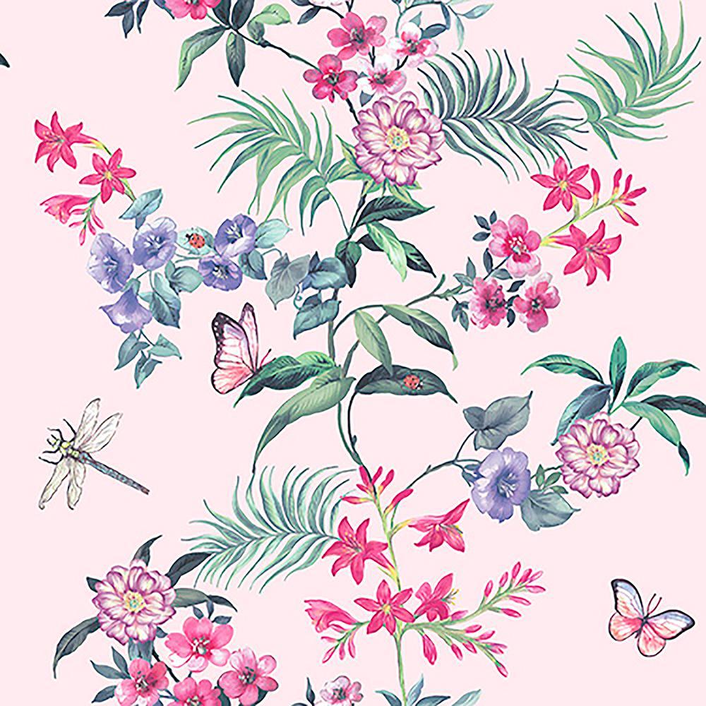 Crown 8 In X 10 In Carmen Light Pink Floral Sample M1347sam