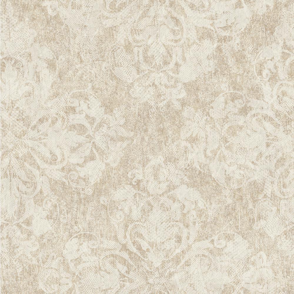 Chesapeake Leia Bear Lace Damask Wallpaper VIR98245