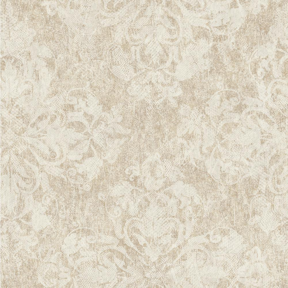 Leia Bear Lace Damask Wallpaper Sample