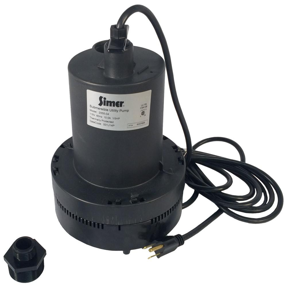 Simer 1/3 HP Submersible Utility Pump-2355 - The Home Depot on mobile home furnace, mobile home finished basement, mobile home humidifier,