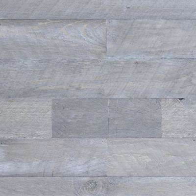 3/8 in. x 4-1/4 in. x 4-1/4 in. Board Barntique Concord Barnwood Wall Panels in Century Gray Finish