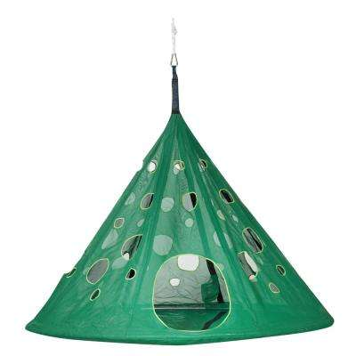 7 ft. x 6 ft. Dia Portable MoonDrop Hammock in Green