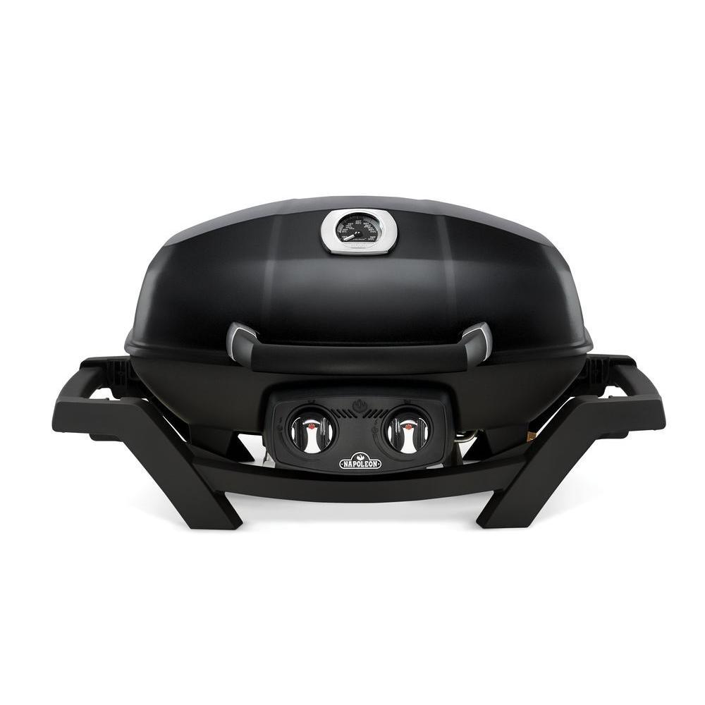 2-Burner Portable Propane Gas Grill in Black