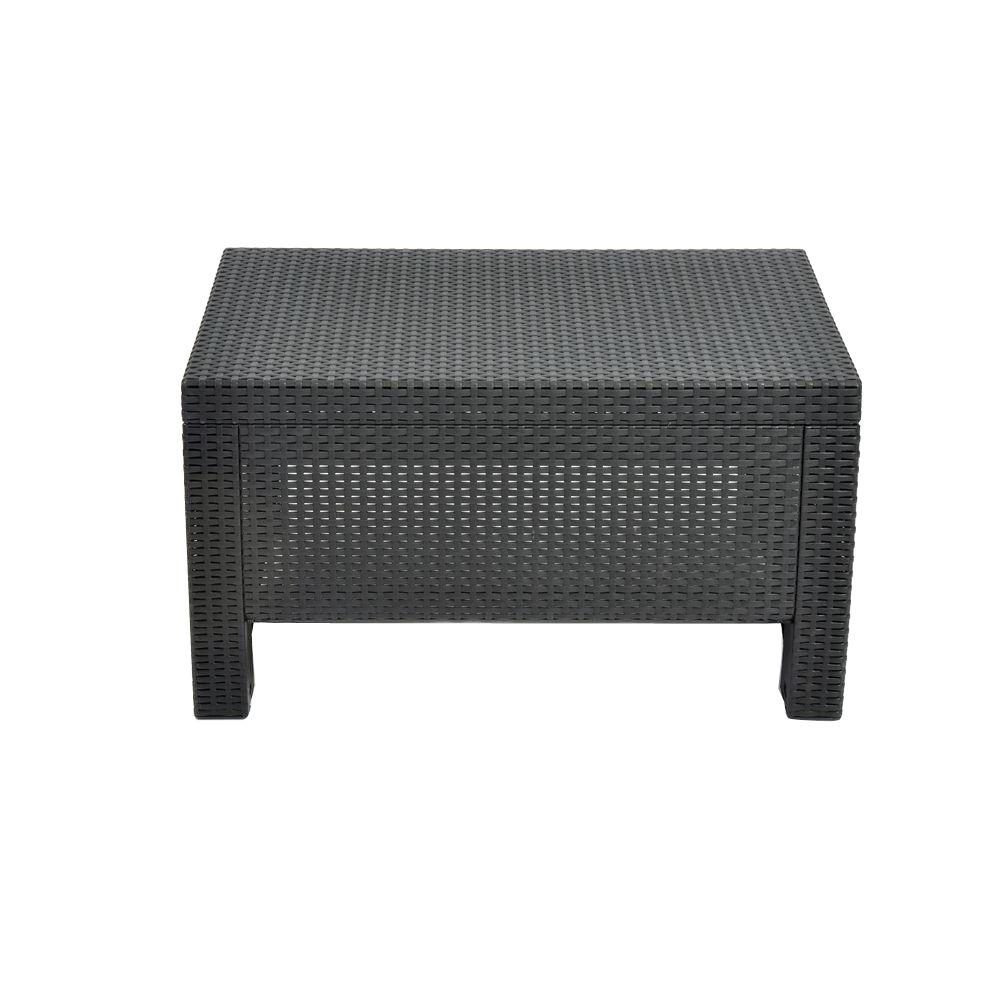Keter Corfu Charcoal All Weather Patio Coffee Table-205070 - The ...