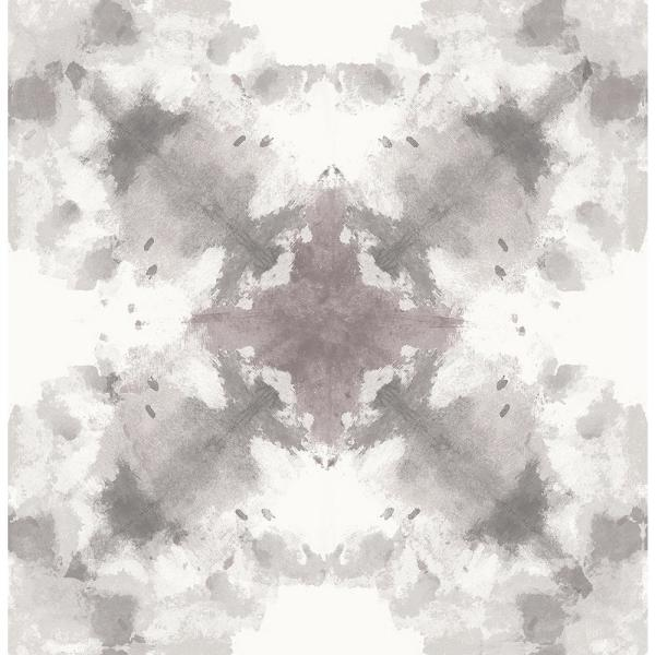 8 In X 10 In Mysterious Grey Abstract Wallpaper Sample