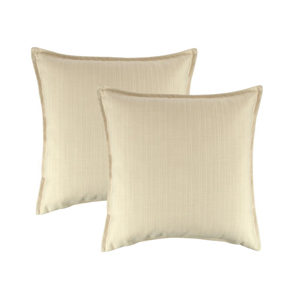 Sunbrella Dupione Pearl 20 in. Outdoor Pillow (set of 2)