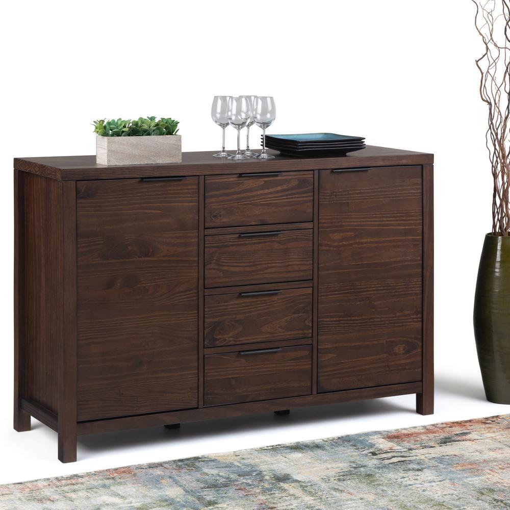 best website 7d15f 8b2ac Simpli Home Hollander Solid Wood 54 in. Wide Modern ...