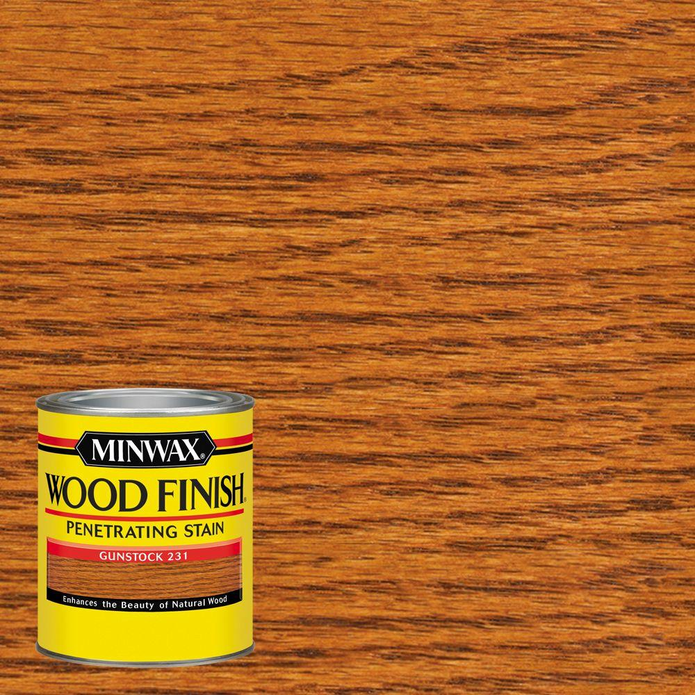 Minwax 1 Qt. Wood Finish Gunstock Oil Based Interior Stain