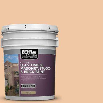5 gal. #MS-15 California Peach Elastomeric Masonry, Stucco and Brick Exterior Paint