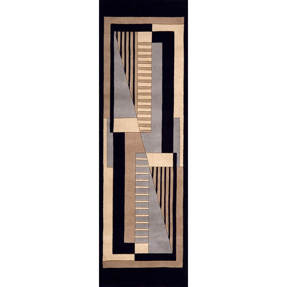 Contempo Black 2 ft. 6 in. x 12 ft. Indoor Runner