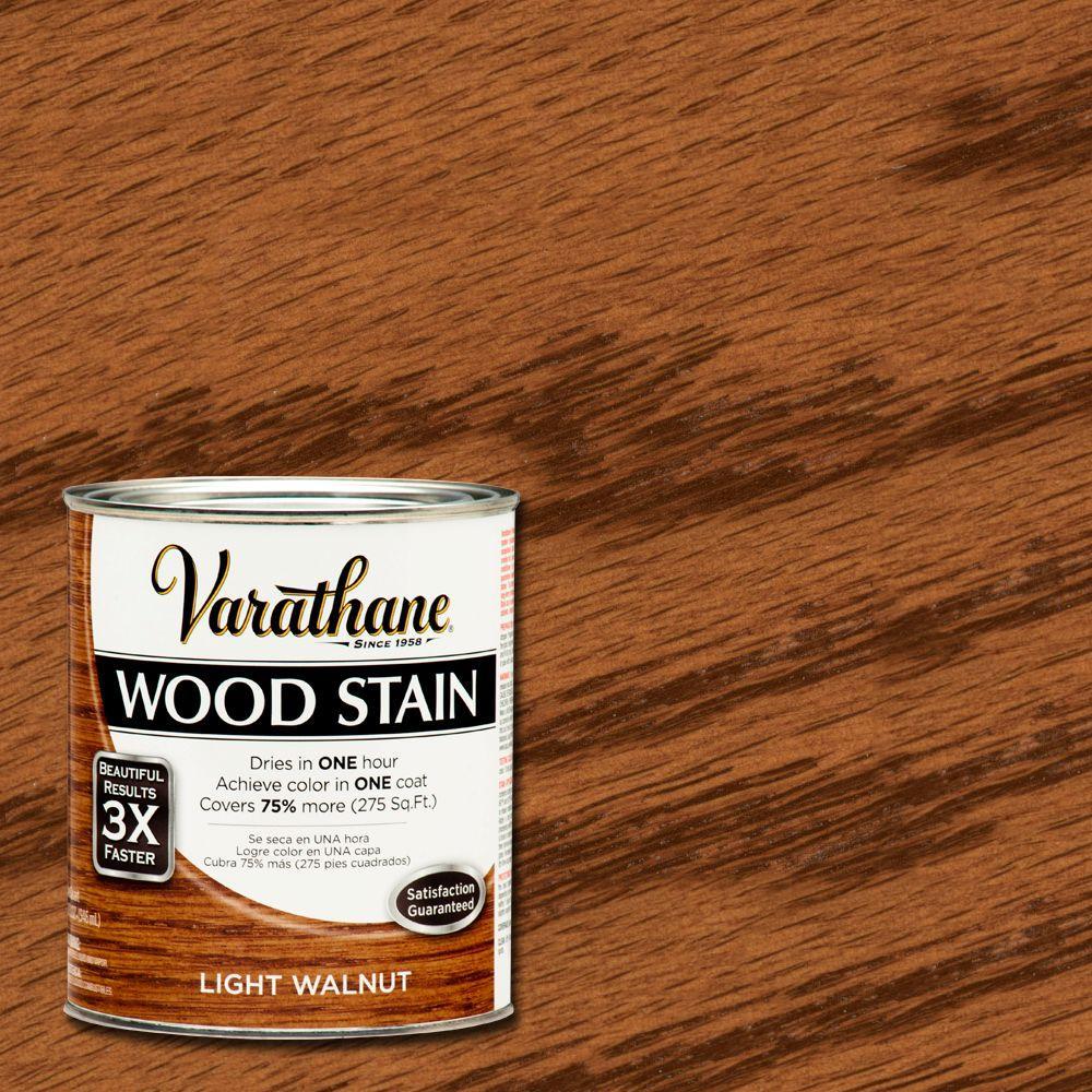 1 qt. 3X Light Walnut Premium Wood Stain (Case of 2)