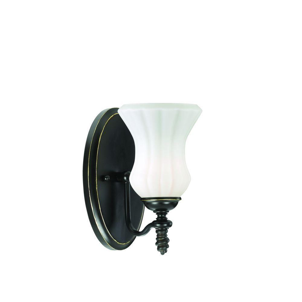 Eurofase Amesbury Collection 1-Light Aged Bronze Wall Sconce