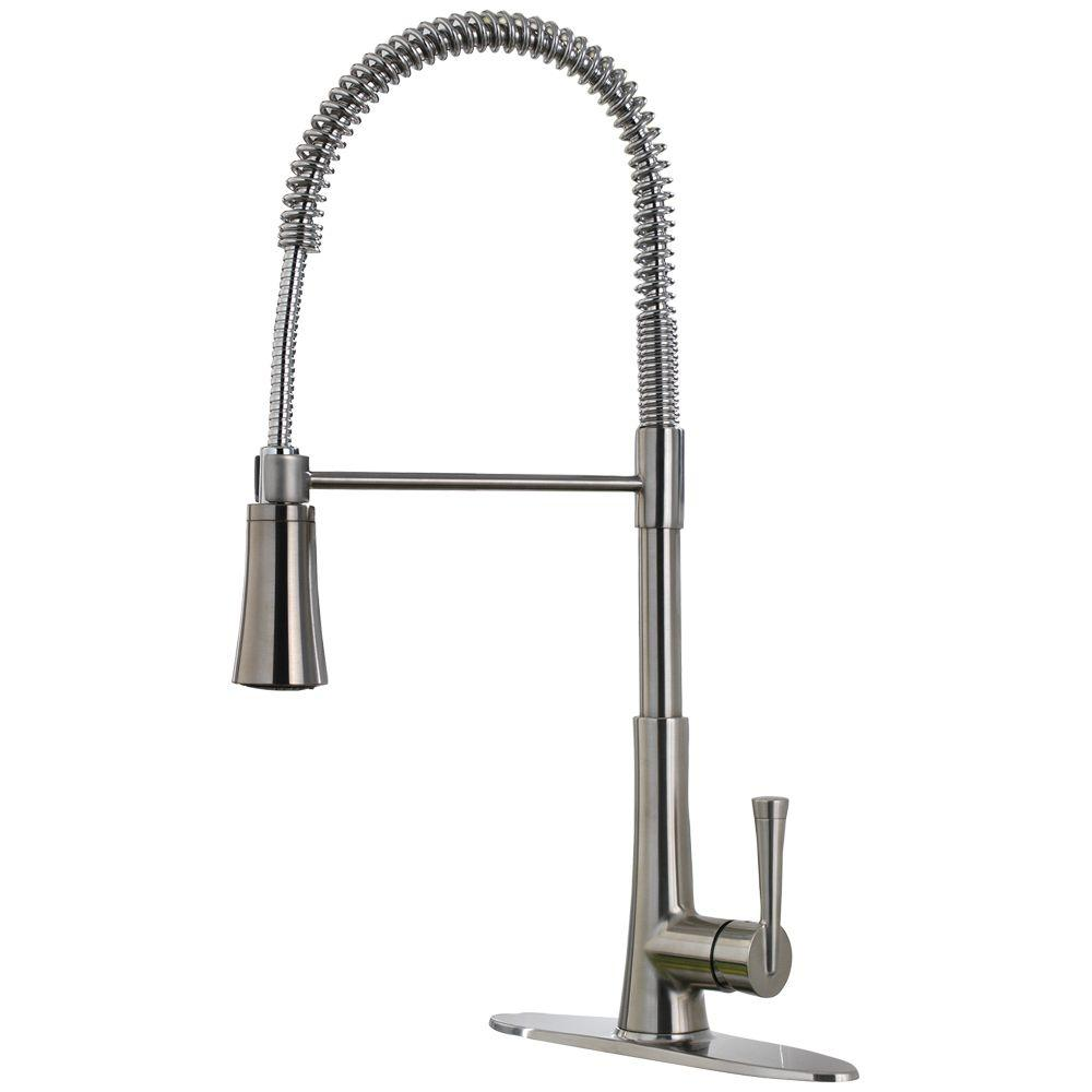 pfister zuri single handle pull down sprayer kitchen faucet in stainless steel - Pfister Kitchen Faucet