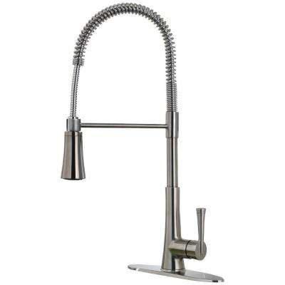 Zuri Single-Handle Pull-Down Sprayer Kitchen Faucet in Stainless Steel