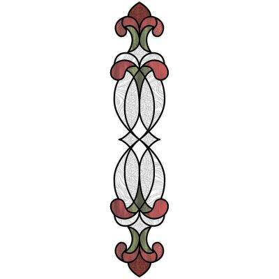 Red Hanover Stained Glass Decal (Set of 2)
