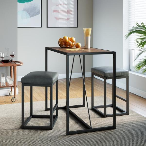 Dining Sets 3 Piece Modern Table, Small Black Kitchen Table And 2 Chairs