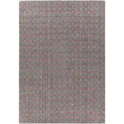 Netix Red/Grey 8 ft. x 11 ft. Hand-Woven Area Rug