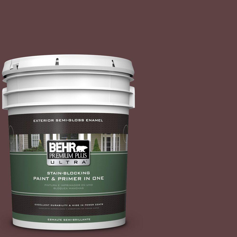 BEHR Premium Plus Ultra 5-gal. #S-G-700 Wild Raisin Semi-Gloss Enamel Exterior Paint
